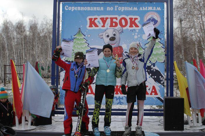 Саутиева  Дарья. 1-е  место  в  слаломе-гиганте.