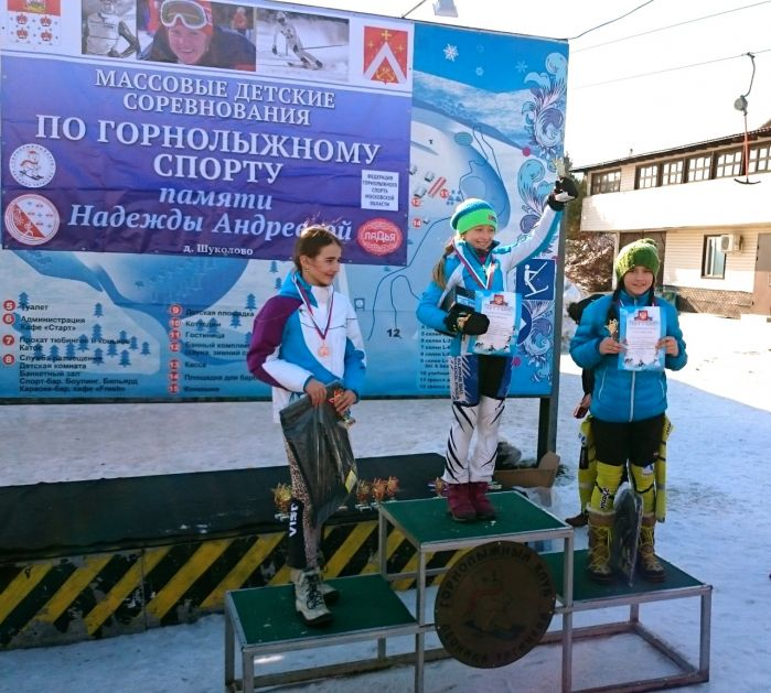 Памяти Надежды Андреевой. Слалом. Ляскало Алиса ЦСКА первое  место.